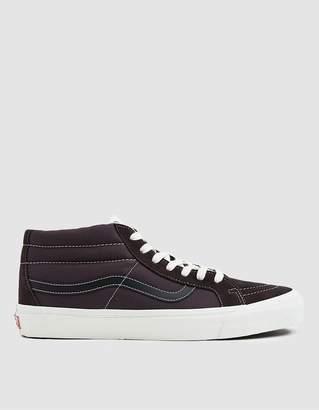 Vans Vault By OG Sk8-Mid Suede/Canvas Sneaker in Shale