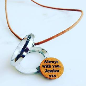 Gracie Collins Personalised Leather Memory Locket Necklace