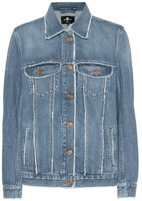 7 For All Mankind Modern Trucker oversized denim jacket