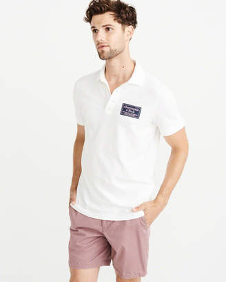 Abercrombie & Fitch Embroidered Logo Tag Polo