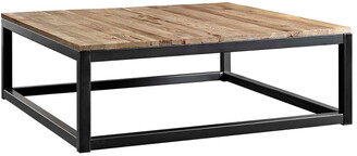 Modway Attune Large Pine Wood & Iron Coffee Table