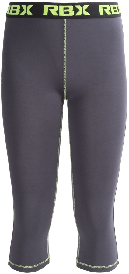RBX Solid Capri Leggings - Logo Waistband (For Big Girls)