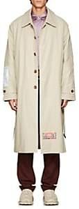 Martine Rose Men's Patch-Appliquéd Cotton-Blend Trench Coat - Gray