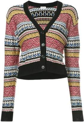 Saint Laurent jacquard stripe cardigan