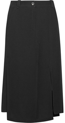 McQ Alexander McQueen - Decon Twill Midi Skirt - Black $695 thestylecure.com