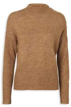 Vero Moda Lagoura Embellished Mockneck Sweater