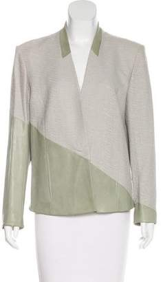 Helmut Lang Leather-Accented Structured Jacket w/ Tags