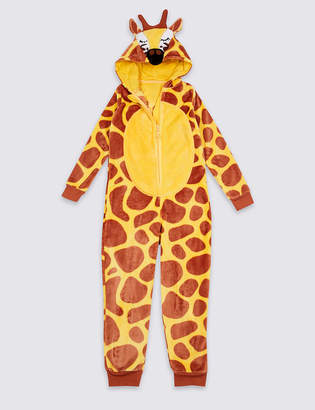 Marks and Spencer Giraffe Hooded Onesie (1-16 Years)