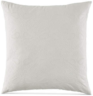 """BCBGeneration Embroidered Floral 20"""" Square Decorative Pillow"""