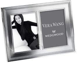Vera Wang Wedgwood Grosgrain Silver 5 X7In Double Frame
