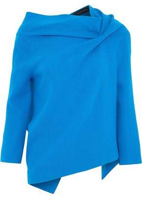 Roland Mouret Draped Wool-Crepe Top
