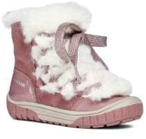 Geox Baby's& Kid's Omar Faux-Fur Linied Winter Boots