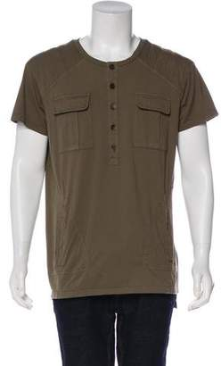 Balmain Knit Henley T-Shirt
