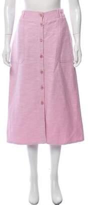 Apiece Apart Button Up Midi Skirt