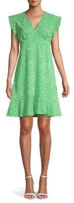 MICHAEL Michael Kors Butterfly Cap Sleeve Clover Dress
