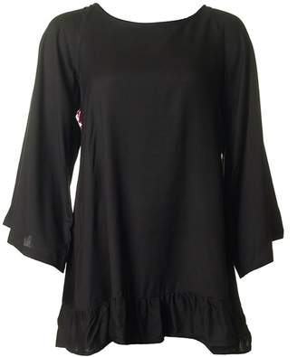 SUNDRESS Indiana Lace Pom Pom Detail Tunic Colour: BLACK, Size: XS-S