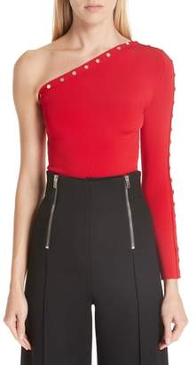 Alexander Wang Snap Sleeve One-Shoulder Top