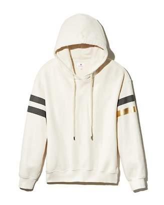 Sundry Striped-Sleeve Hooded Sweatshirt