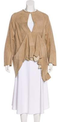 Marni Ruffled Suede Jacket