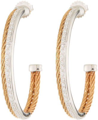 Alor Classique Diamond Hoop Earrings