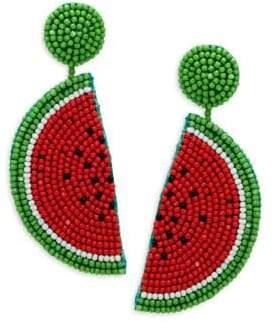 Kenneth Jay Lane Beaded Melon Drop Earrings