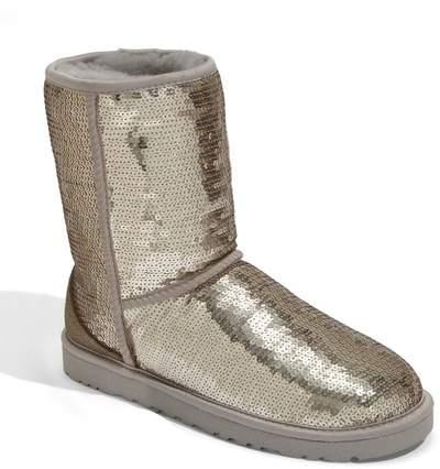UGG Australia Classic Short Sparkle Genuine Shearling Boot