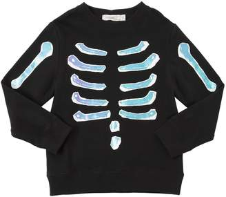 Stella McCartney Reflective Skeleton Cotton Sweatshirt