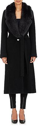 Helmut Lang Women's Faux Fur Collar Coat $1,295 thestylecure.com