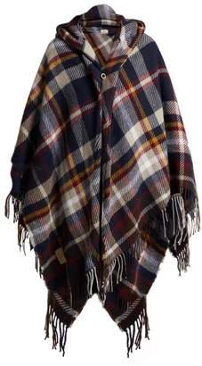 Vivienne Westwood Anglomania - Tartan Hooded Poncho - Womens - Navy Multi