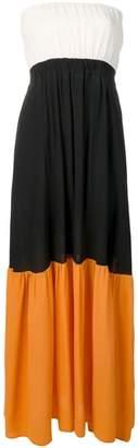 Semi-Couture Semicouture colour block maxi dress