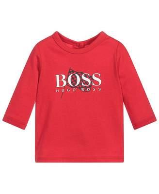 HUGO BOSS Kids Flag Logo T-shirt