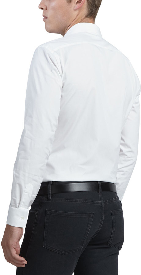 Burberry Brit Henry Check-Detail Sport Shirt, White 2