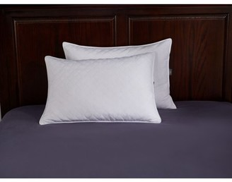 Pure Down Puredown Quilted White Goose Feather and Down Pillow, Set of 2,White, King Size