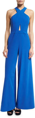 Alice + Olivia Trinity Cross-Front Wide-Leg Jumpsuit $440 thestylecure.com