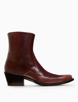 Calvin Klein western ankle boot in calf leather