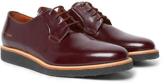 Common Projects Glossed-Leather Derby Shoes