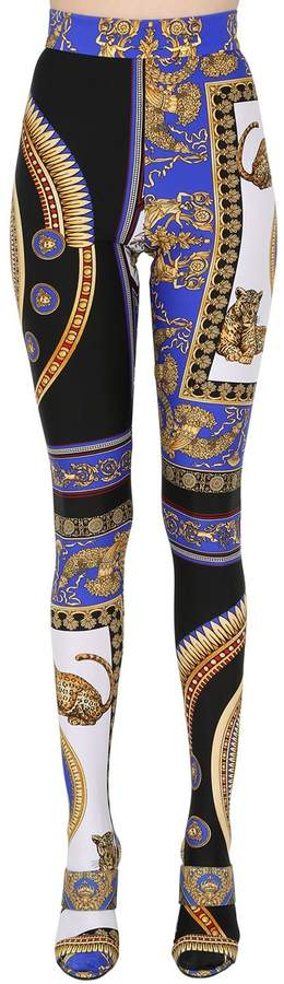 Printed Stretch Footed Leggings
