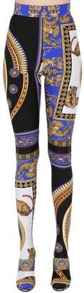 Versace Printed Stretch Footed Leggings