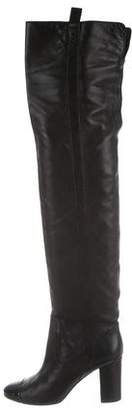Chanel Cap-Toe Over-The-Knee Boots
