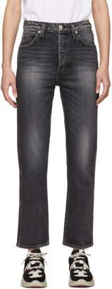 Amo Black Chloe Crop Jeans