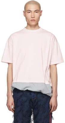 Marni Pink and Grey Jersey T-Shirt