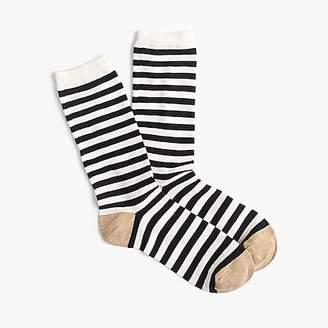 J.Crew Striped trouser socks in Lurex®