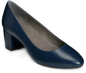 Aerosoles A2 BY A2 by Womens Silver Medal Pumps Round Toe Block Heel