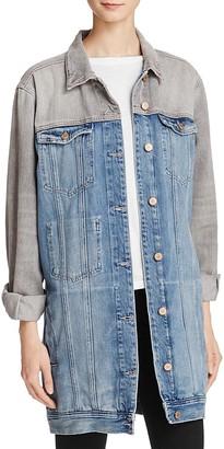 GUESS Long Denim Jacket $158 thestylecure.com