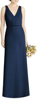 Jenny Yoo JY Tie Back Crepe Gown