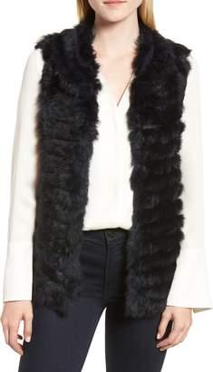 La Fiorentina Genuine Rabbit Fur & Acrylic Knit Vest