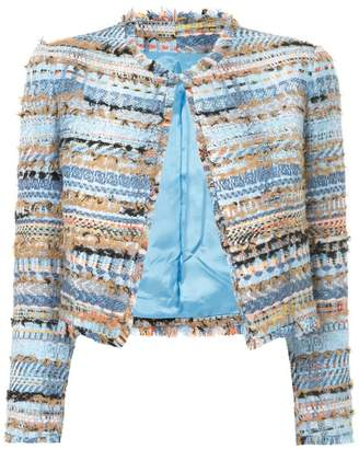 Isabel Sanchis tweed-embroidered cropped jacket