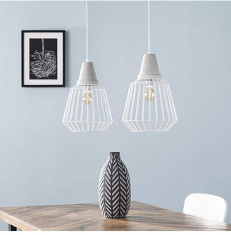 Southern Enterprises Pipit Cage Pendant Lamp 2 Piece Set