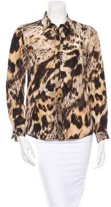 Yigal Azrouel Silk Leopard Blouse w/ Tags