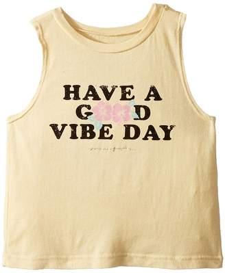 Spiritual Gangster Kids Good Vibe Day Cut Off Tank Top Girl's T Shirt